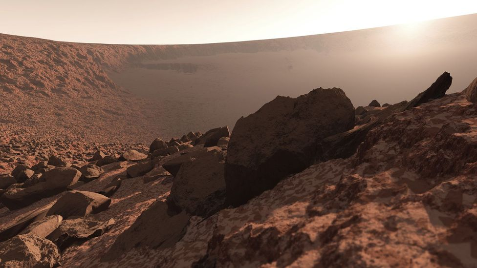 How do astronauts train to deal with the desolate emptiness of places like Mars? (Credit: Science Photo Library)