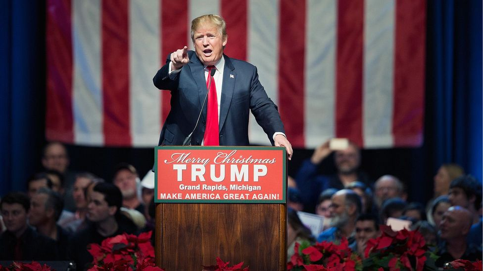 US presidential candidate Donald Trump's solutions that are either unworkable or unconstitutional are an example of agnotology, says Dunning (Credit: Getty Images)