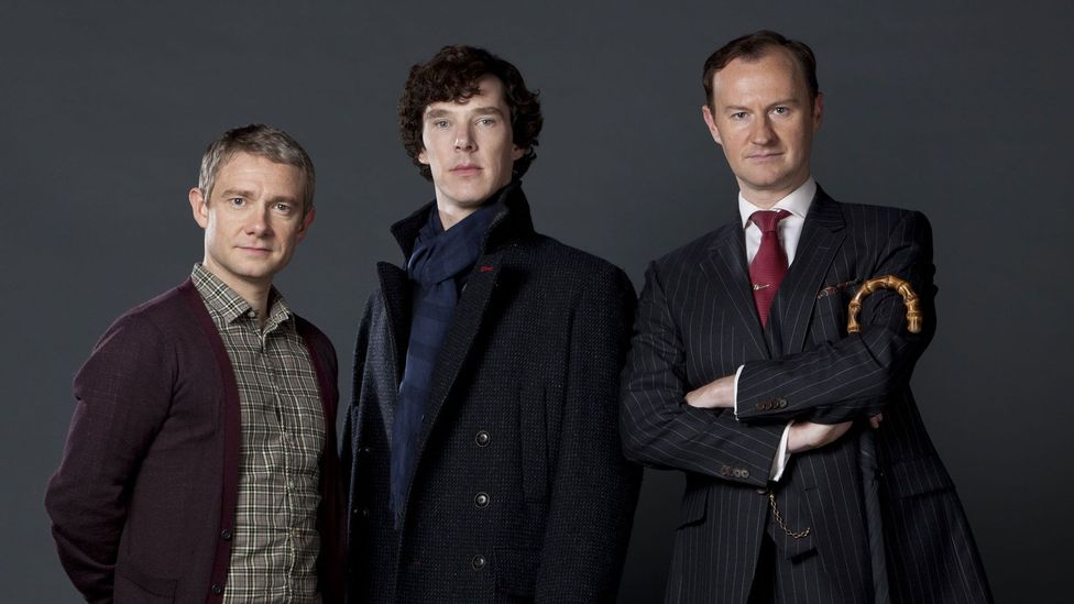 Sherlock co-creator Mark Gatiss (right) has credited Conan Doyle for creating characters that transcend time (Credit: Hartswood Films/REX Shutterstock)