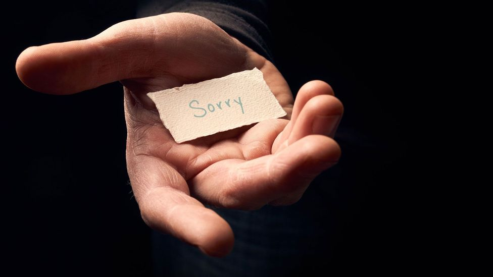 Blushing is another way to demonstrate apology (Credit: Alamy)
