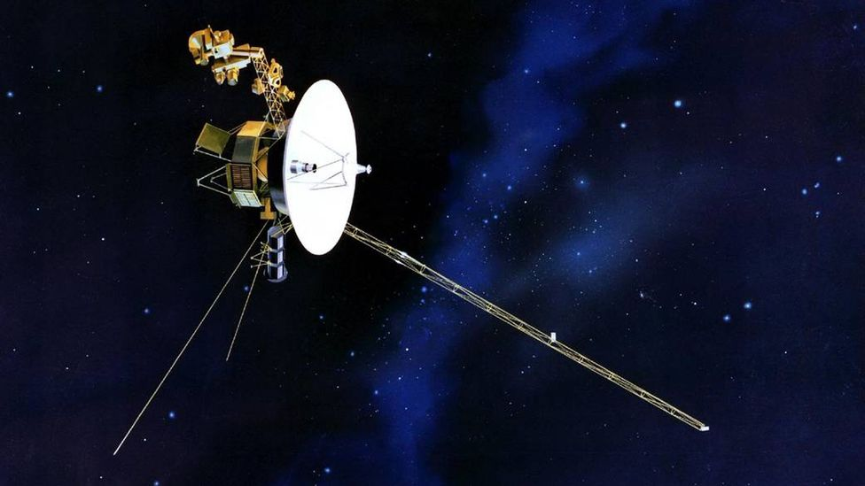 Despite the low-tech of Voyager's propulsion system, it's kept the probe going for 38 years (Credit: Nasa)