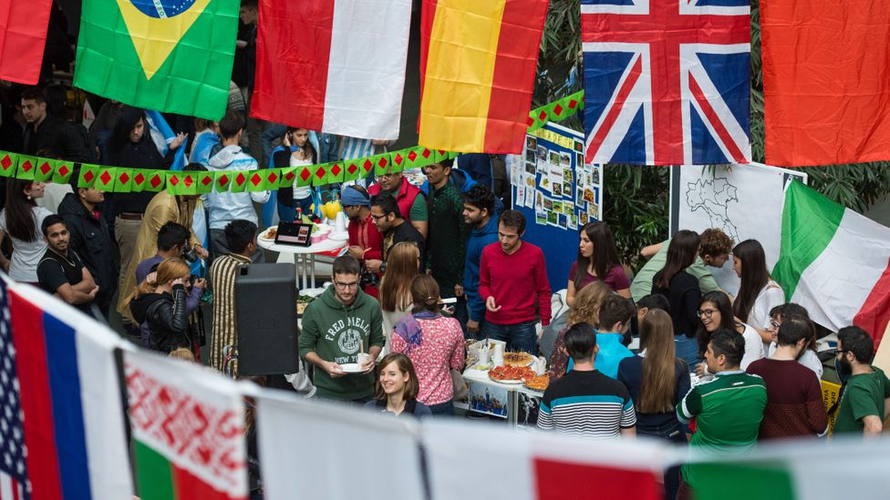 Nations with the largest percentage of international students include Australia, the UK, Switzerland, New Zealand and Austria. (Credit: Alamy)