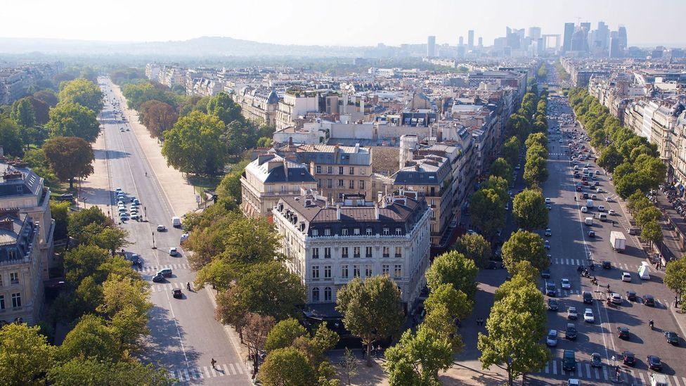 A dozen avenues radiate from the Arc de Triomphe at the core of Haussmann's Place de l'Ètoile – renamed Place Charles de Gaulle (Credit: Alamy)