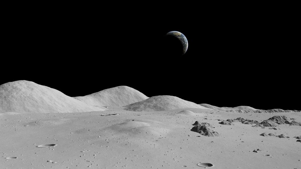 The sharp, gritty dust which covers the Moon's surface needs to be compacted before it can be used (Credit: Science Photo Library)