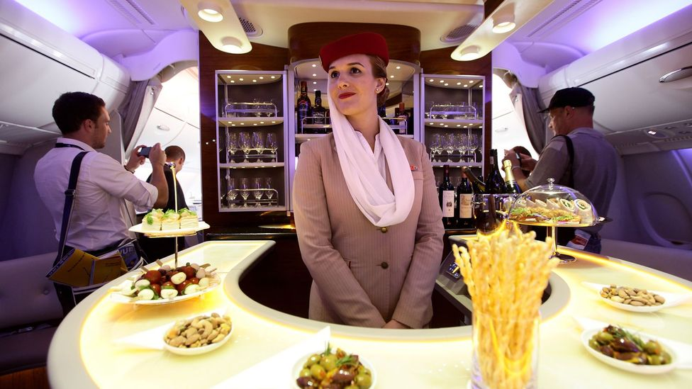 Emirates' Upper Class bar has proven a popular draw already (Credit: Getty Images)