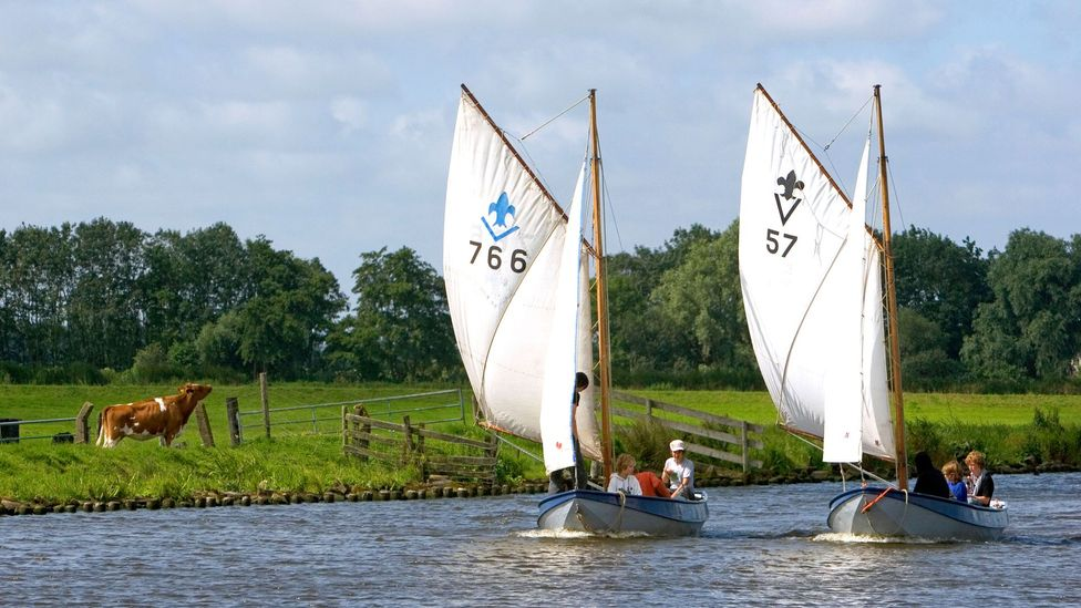 Sailboats travel on canals near Leiden (Credit: David R Frazier Photolibrary, Inc /Alamy)