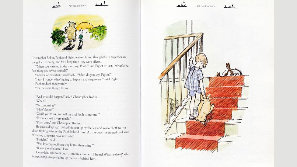 Milne's Winnie the Pooh books added up to just 70,000 words – the length of an average novel (Credit: CBW/Alamy)