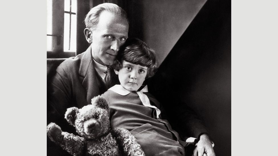 Milne with his son Christopher and the well-loved bear in 1926 (Credit: Pictorial Press Ltd/Alamy)