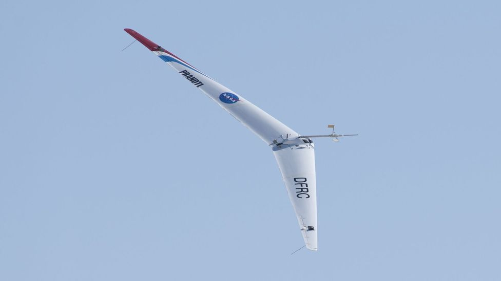 The Ho 229's design has influenced a Nasa project for a small flying wing which could explore Mars (Credit: Tom Tschida/Nasa)