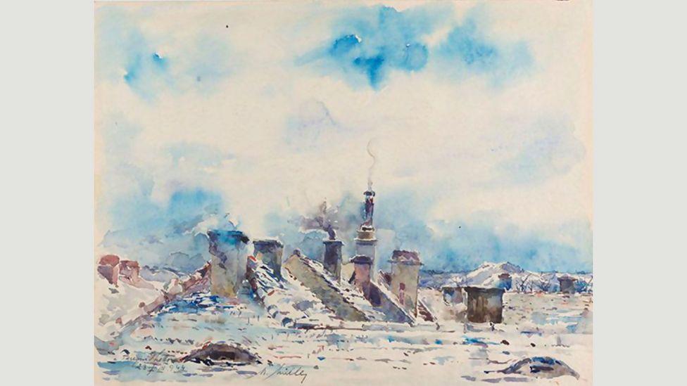 Moritz Müller, Rooftops in the Winter (1944)