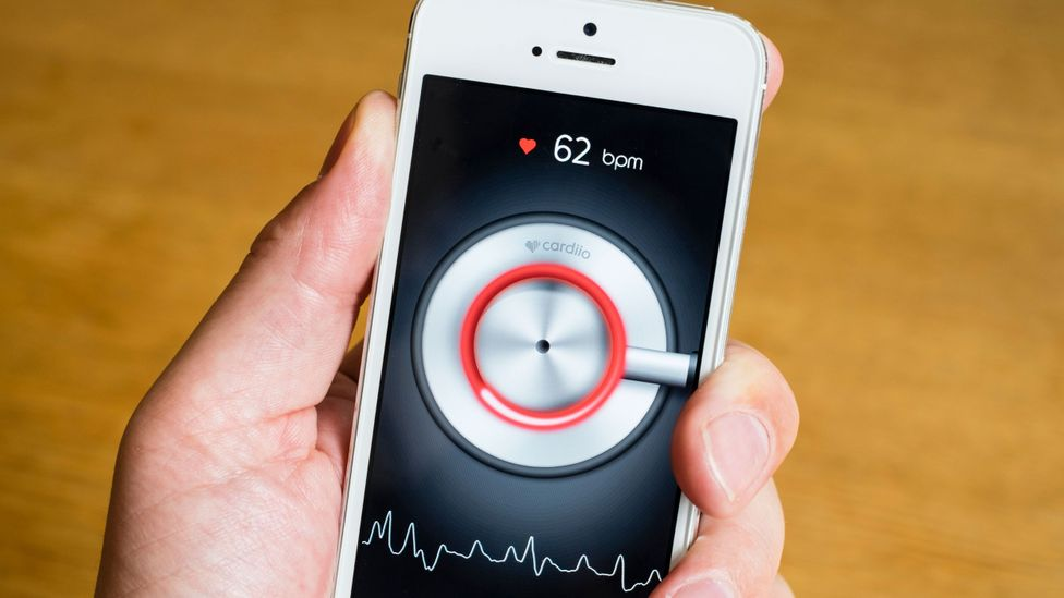 Monitoring your heart from your phone (Credit: Alamy)