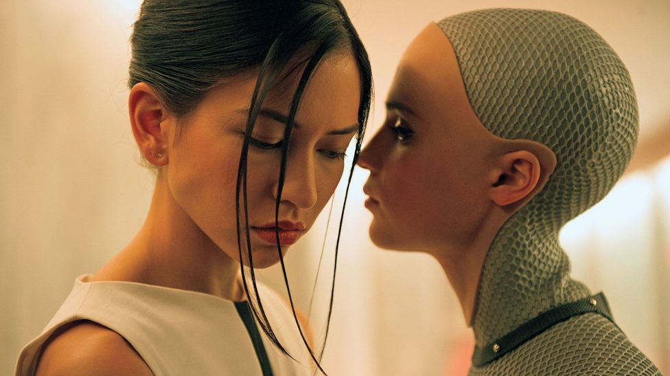 The movie Ex Machina explores the relationship that can form between human and AI (Credit: Ex Machina/A24)