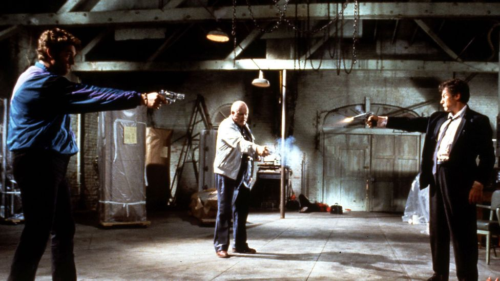 Quentin Tarantino paid homage to the film's famous trio scene more than 25 years later in 1992's Reservoir Dogs (Credit: Pictorial Press Ltd/Alamy)