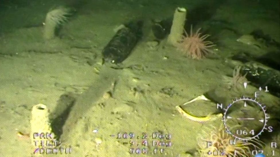 After using sonar to locate the wreck, the team could send a camera to the site (Credit: Endurance Exploration Group)