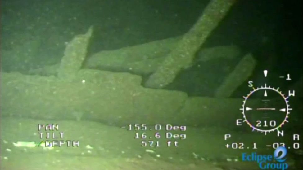 One of the things revealed by the camera that the team sent to the Connaught was a giant net snagged on the structure (Credit: Endurance Exploration Group)