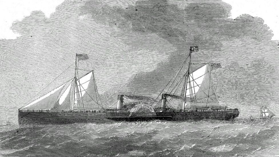 The SS Connaught was sunk by a fire but luckily all passengers and crew survived (Credit: Endurance Exploration Group)