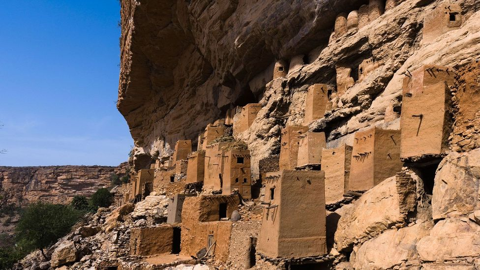 In cliff-side houses like these, some Malian villagers talk an enigmatic anti-language originally designed to fool slave-traders (Credit: Alamy)