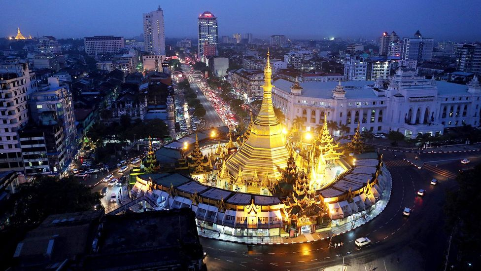 The Sule pagoda in downtown Yangon (Credit: Getty Images)