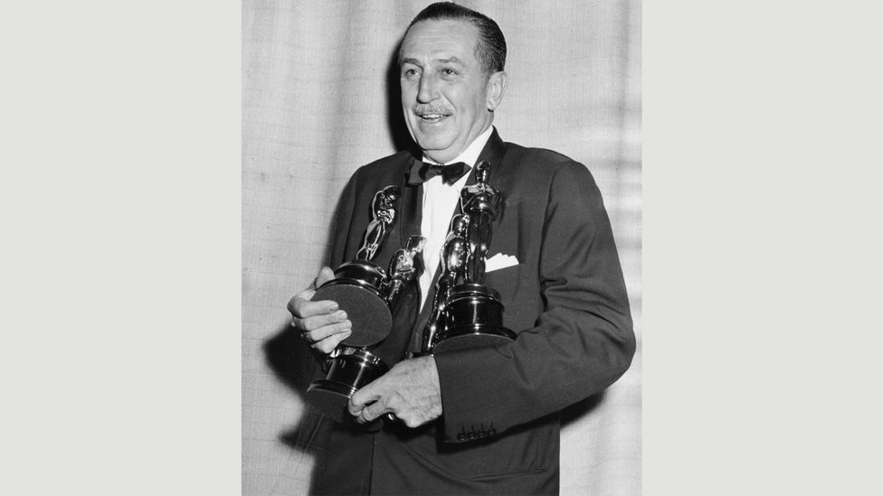Walt Disney won more Oscars than anyone in history, with 26 in  total – costume designer Edith Head still holds the record for a woman, with eight awards (Credit: Getty Images)