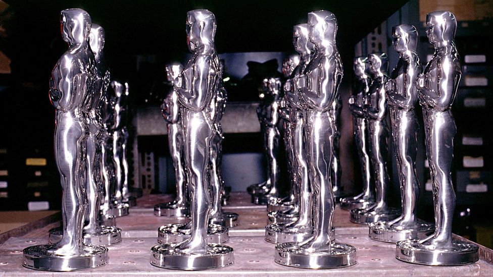 The Oscar statuette weighs 8.5lb (3.6kg) and starting with the 2016 Academy Awards will be created by the Polich Tallix company in New York (Credit: Rex)