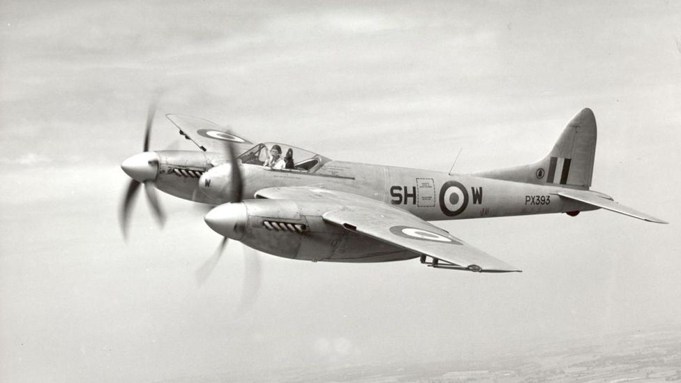 "The ""Ferrari in the sky"", as Brown referred to it, was the British-made de Havilland Hornet (Credit: Crown Copyright/Wikipedia)"