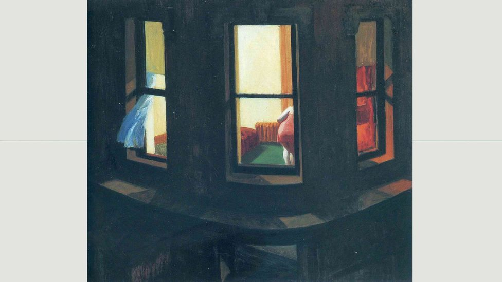 """In Night Windows, """"privacy has been breached"""" says Laing, """"but it doesn't make the woman any less alone"""" (Credit: Night Windows (1928) / Edward Hopper)"""