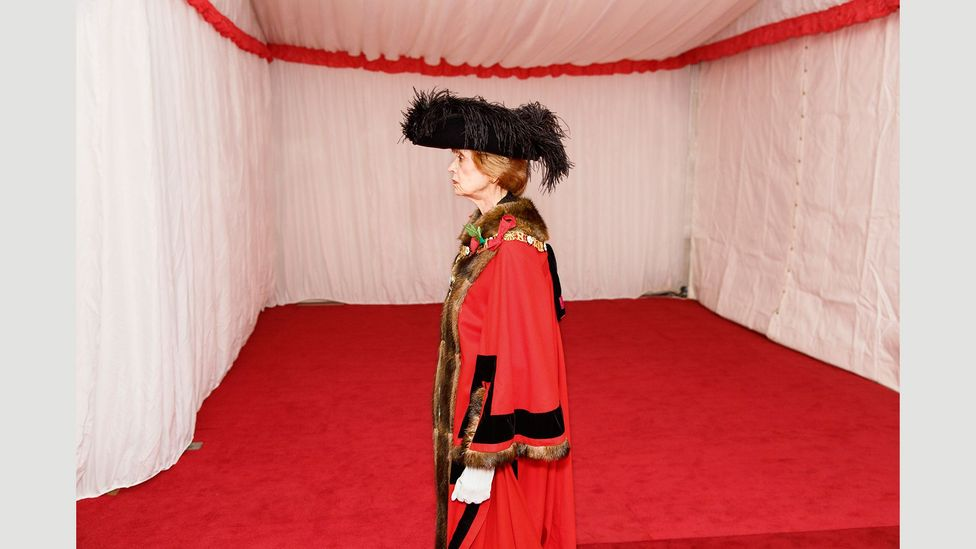 Former Lord Mayor Fiona Woolf at the Silent Ceremony in 2013 (Credit: Martin Parr/Magnum Photos)