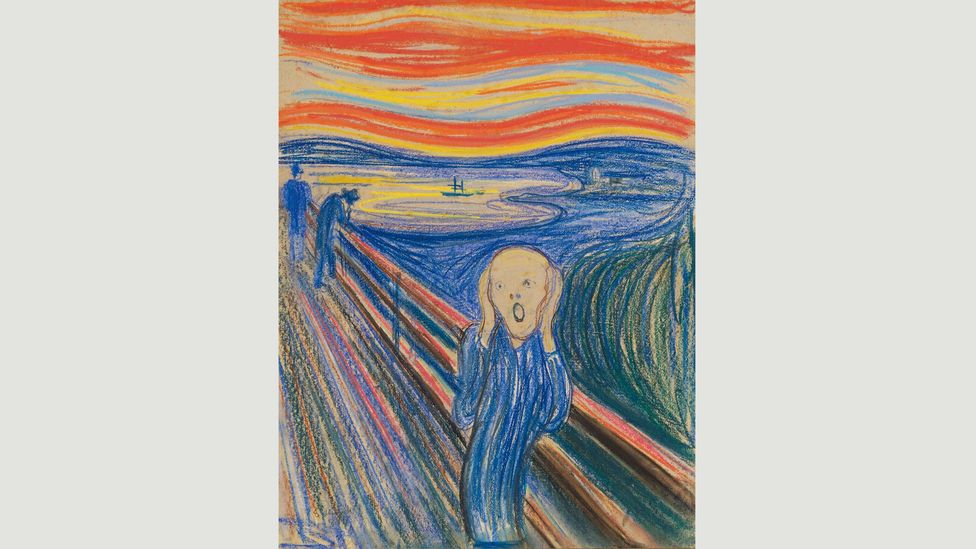 In 2012 the 1895 pastel-on-cardboard version fetched almost $120 million (£75 million) at Sotheby's in New York (Credit: The Scream 1895/Edvard Munch)