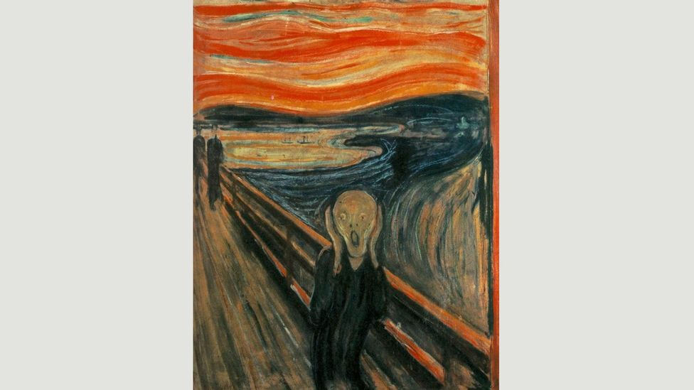 It has been suggested that The Scream is a self-portrait, or that inspiration came from a Peruvian mummy that Munch saw at the World's Fair in Paris in 1889 (Credit: Edvard Munch)