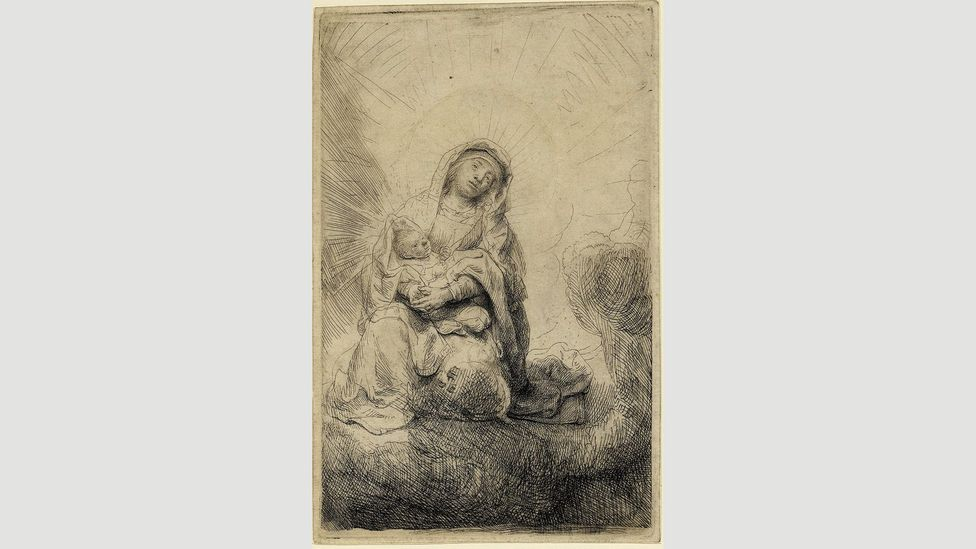 Any member of the public can ask to see the works in the British Museum's Study Room, like Rembrandt's 1641 Virgin and Child (Credit: The Trustees of the British Museum)