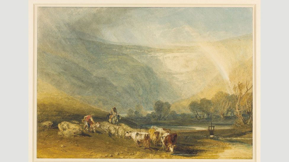 The British Museum's 1810 watercolour Malham Cove, Yorkshire, by JMW Turner, in the Prints and Drawings collection (Credit: The Trustees of the British Museum)