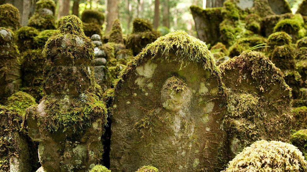 The Okunoin Cemetery is said to date back to 816AD (Credit:  Steve Silver/Age Fotostock/Alamy)