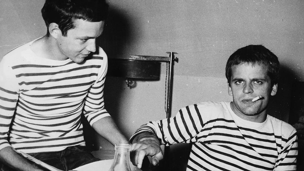 The striped jersey was recorded by decree in March 1858 as the official undergarment of the French Navy (Credit: Getty Images)