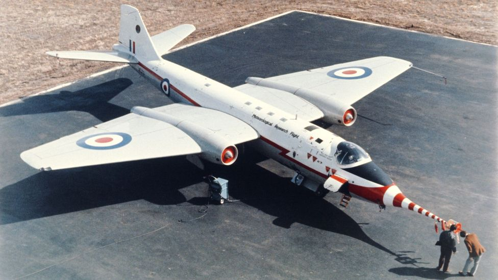 The RAF also used some Canberras for high-altitude meteorological work (Credit: Science Photo Library)