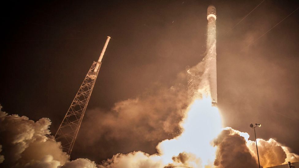 Falcon 9 launches from Cape Canaveral, delivering two satellites to orbit (Credit: SpaceX/Public Domain)