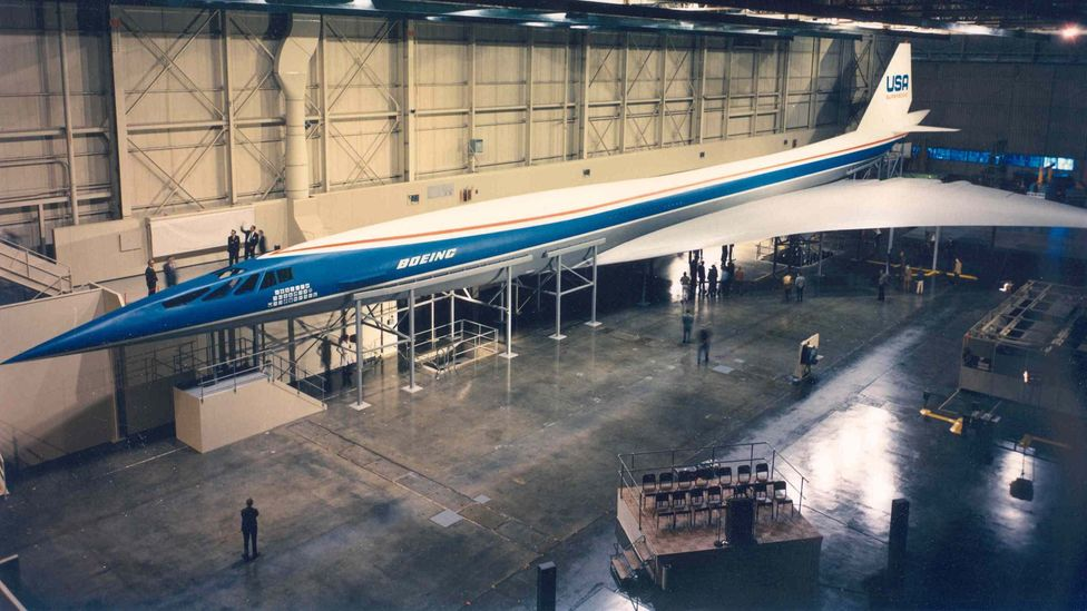 A full-size mock-up of the delta-winged Boeing 2707 was built in Seattle (Credit: Boeing)