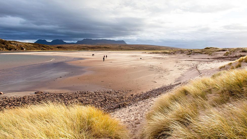 The North Coast 500 cuts past wild sand beaches, like this one near Cromarty on the northwest coast (Credit: Sham/Alamy)