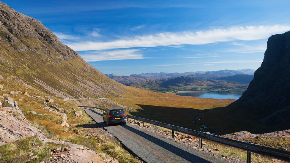 The mountain pass to Applecross, the end of the North Coast 500, in the Scottish Highlands (Credit: Iain Sarjeant/Alamy)