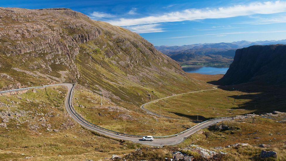 The mountain pass to Applecross in the Scottish Highlands (Credit: Iain Sarjeant/Alamy)