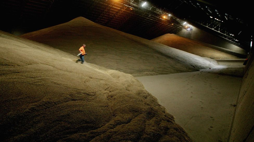 The quicksand effect means that falling into a silo full of grain can often be fatal (Credit: Getty Images)