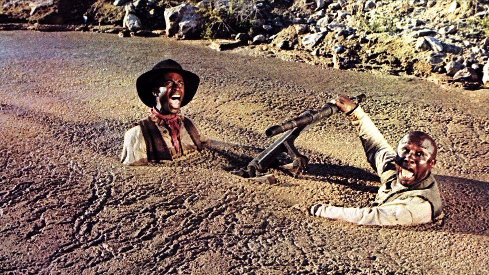 Cleavon Little & Charles McGregor in the 1974 film Blazing Saddles (Credit: AF archive/Alamy)