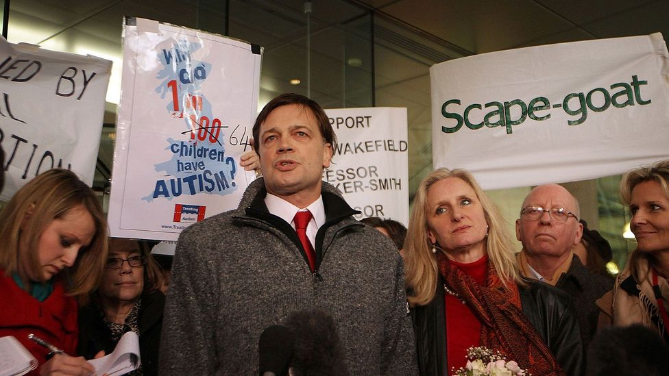 Andrew Wakefield (pictured) falsified elements of research that wrongly linked autism to MMR vaccines, leading him to be struck off the medical register (Credit: Getty Images)