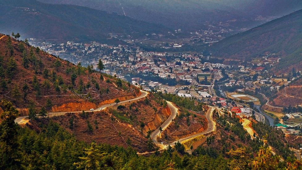 Bhutan's Thimphu is the only capital city in the world without traffic lights (Credit: ajlber/iStock)