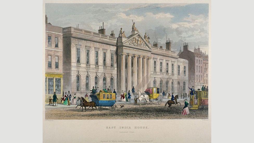 The 'new' East India House, built on Leadenhall Street in 1850 (Credit: Heritage Image Partnership Ltd/Alamy)