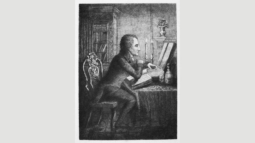 An etching after a 1835 drawing of Charles Lamb (Credit: Granger, NYC. /Alamy)