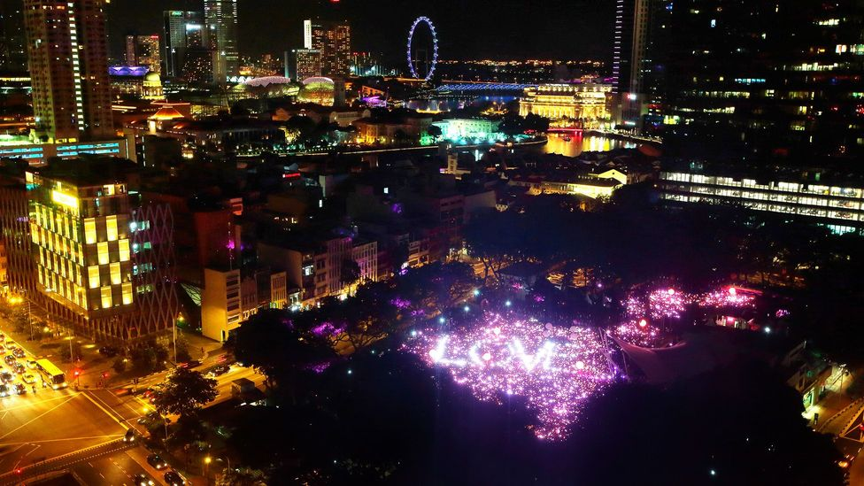 Large multinational companies sponsor the annual Pink Dot gay pride event in Singapore, a country in which homosexuality is illegal (Credit: Getty Images)