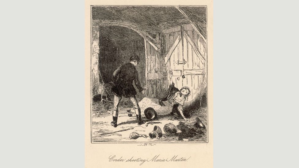 William Corder became one of the first celebrity murderers when he shot his wife and buried her in a barn (Credit: Alamy)