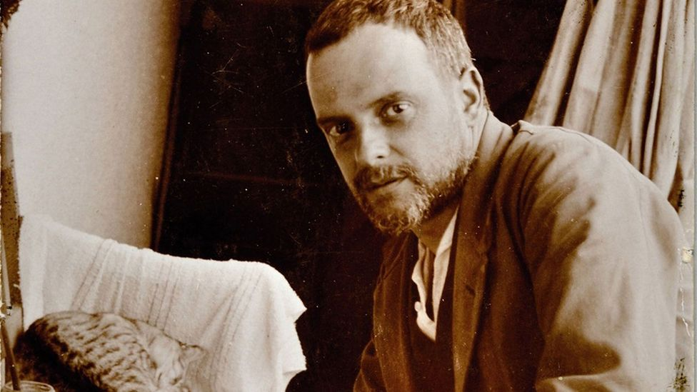 Paul Klee was a young artist at the beginning of his career when the Angelus Novus was exhibited in 1920 – the year in which this picture was taken (Credit: Getty Images)