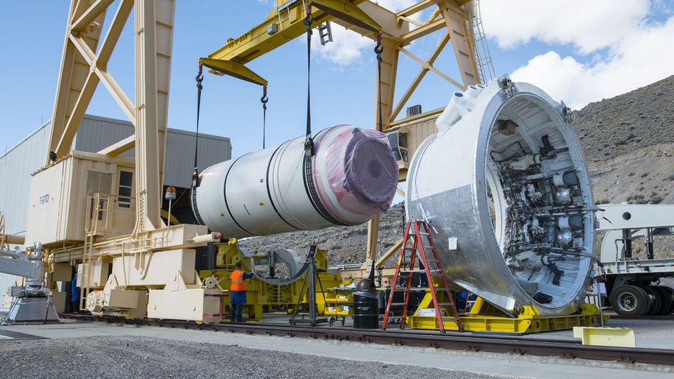 The solar sail-carrying Scout is likely to be deployed from Nasa's new Space Launch System (SLS) rocket (Credit: Nasa)