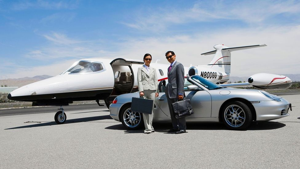 If leasing a sports car isn't enough, some membership clubs provide discounted flights on private jets (Credit: Alamy)